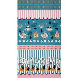 Lecien Judie's Cotton Cards & Silhouette Border Turquoise