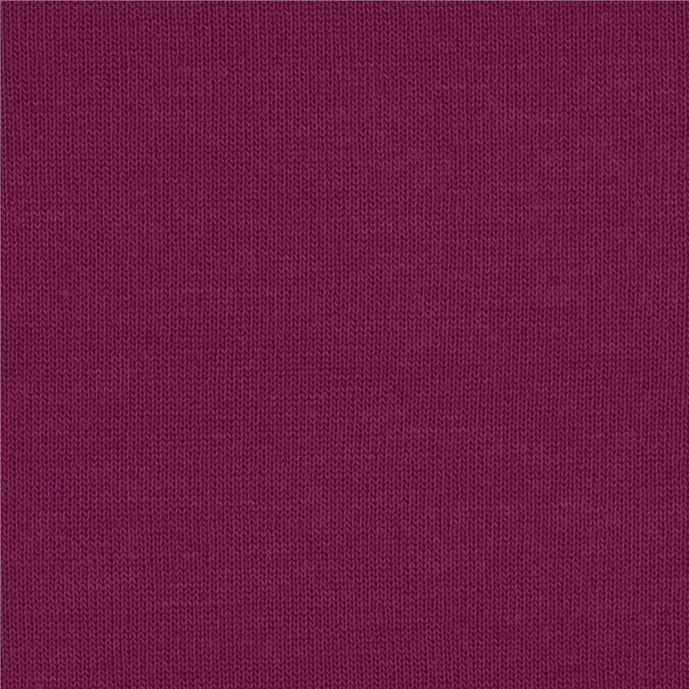 Stretch Cotton Blend Hatchi Knit Purple