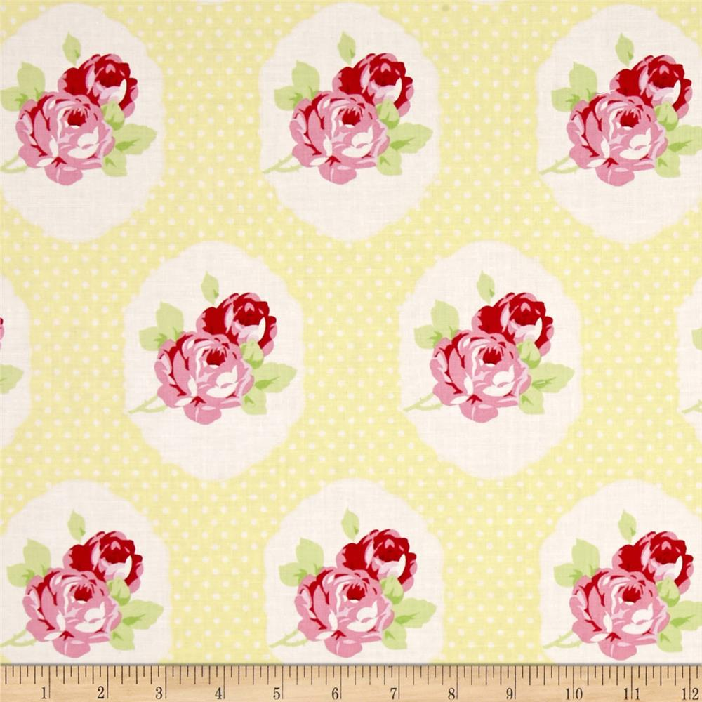Tanya whelan lola frames yellow discount designer fabric for Fabric picture frames