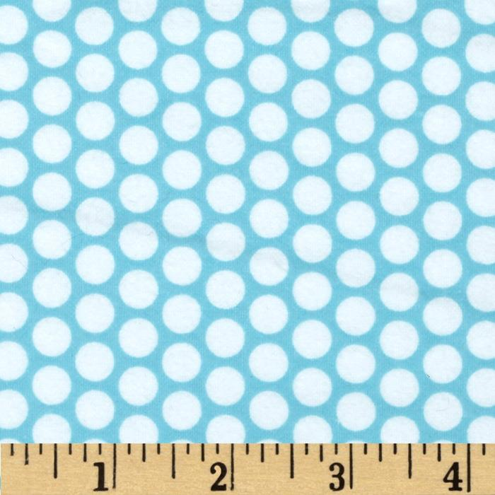 Riley Blake Flannel Honeycomb Dot Aqua