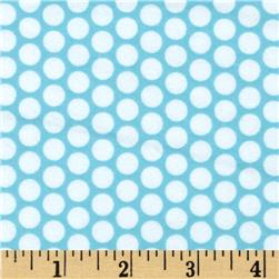 Riley Blake Flannel Honeycomb Dot Aqua Fabric