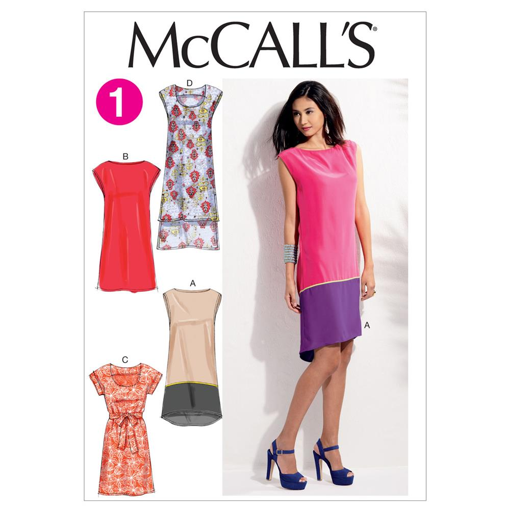 McCall's Misses' Dresses and Belt Pattern M6551 Size 0Y0
