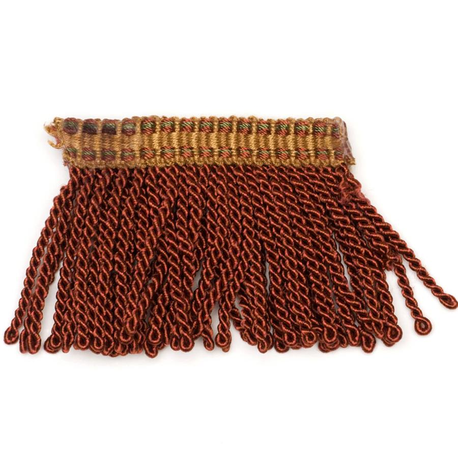 "Fabricut 2.25"" Tenango Bullion Fringe Copper"