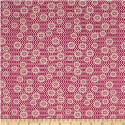 Denyse Schmidt Ansonia Honeycomb Lace Mushroom Fabric