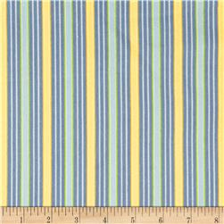 American Bouquet Flannel Wide Stripe Blue