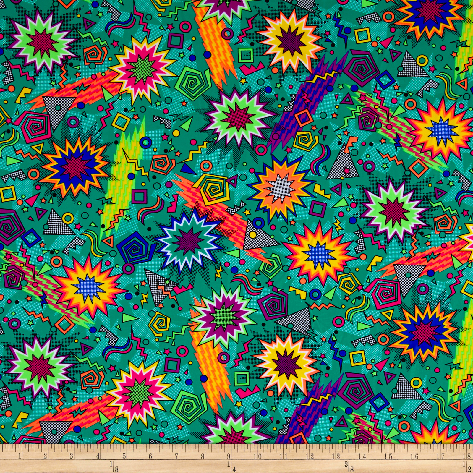 Pine Crest Fabrics Zack Attack Printed Athletic Knit Teal 0539712