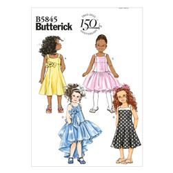 Butterick Children's/Girls' Dress Pattern B5845 Size CDD