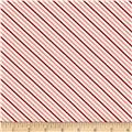 Moda Hello Darling Summer Stripe Coral - Red