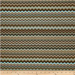 A.E. Nathan Chevron Brown/Aqua/White