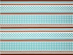 Sew Cherry Border Stripe Blue