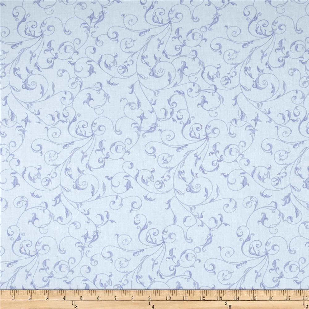 "110"" Wide Quilt Back Filigree Sky"