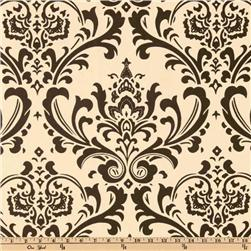 Premier Prints Traditions Natural/Chocolate Fabric