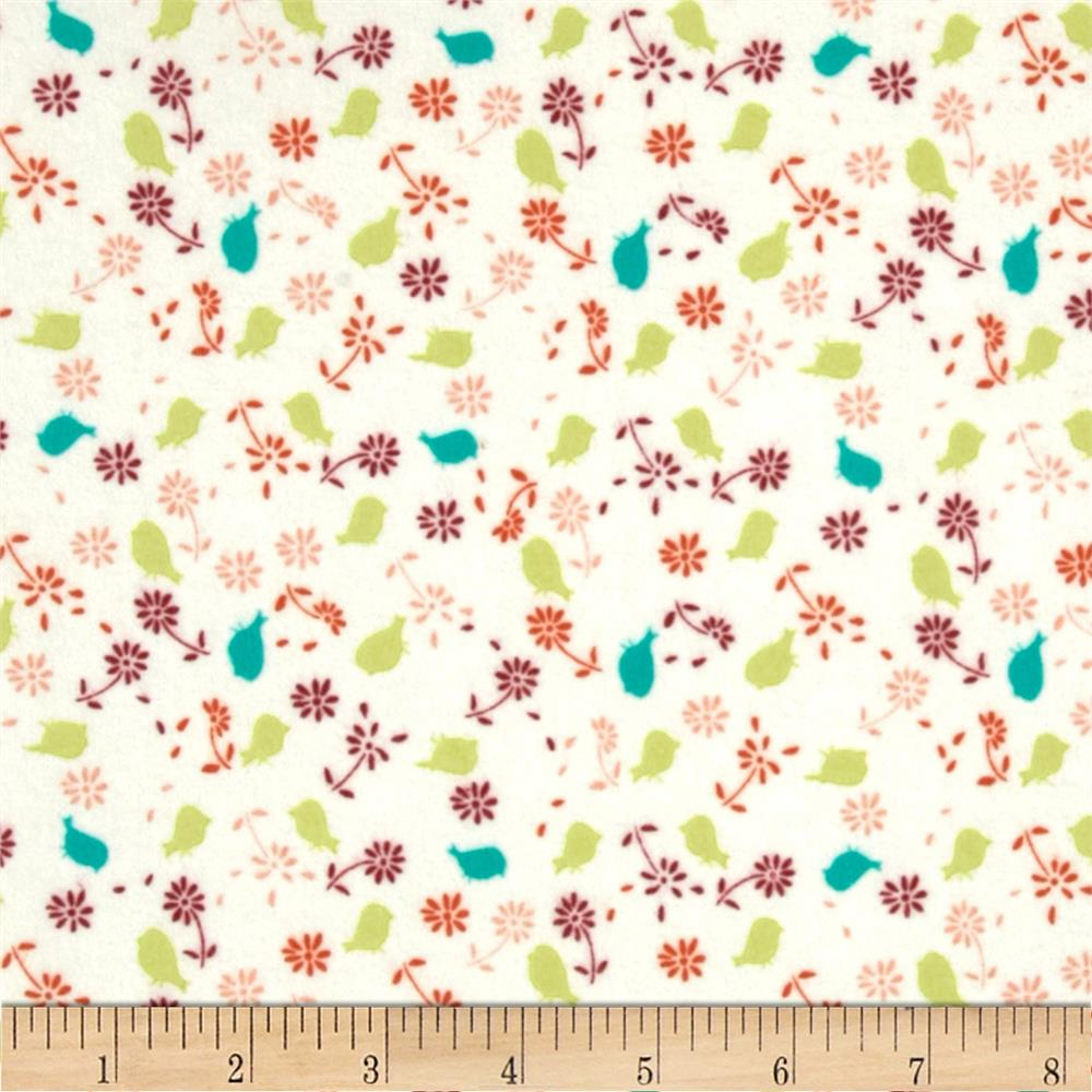 Valori Wells Bridgette Lane Flannel Posies Cherry Fabric By The Yard