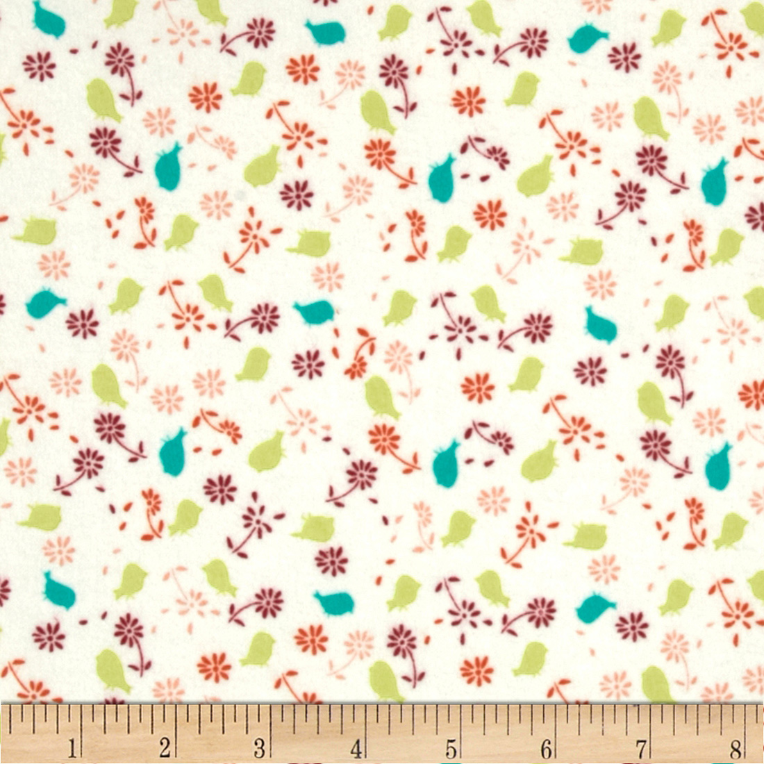 Valori Wells Bridgette Lane Flannel Posies Cherry Fabric