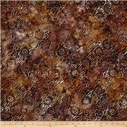 Batavian Batiks Dynamic Circles Dark Brown