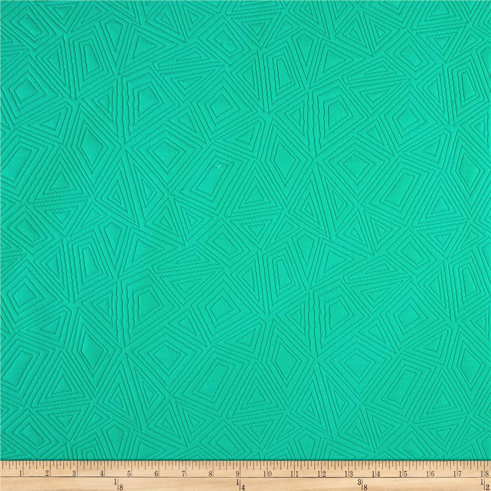 Quilted Triangle Knit Caribbean Green
