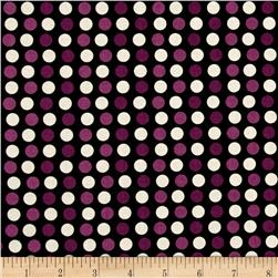 Riley Blake Lost & Found Halloween Dots Purple