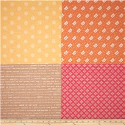 Riley Blake Modern Minis Fat Quarter Panel Orange