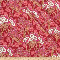 Liberty of London Torrington Silk Crepe de Chine Hazel Red