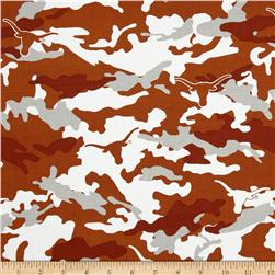 University of Texas Cotton Camouflage Burnt Orange Fabric