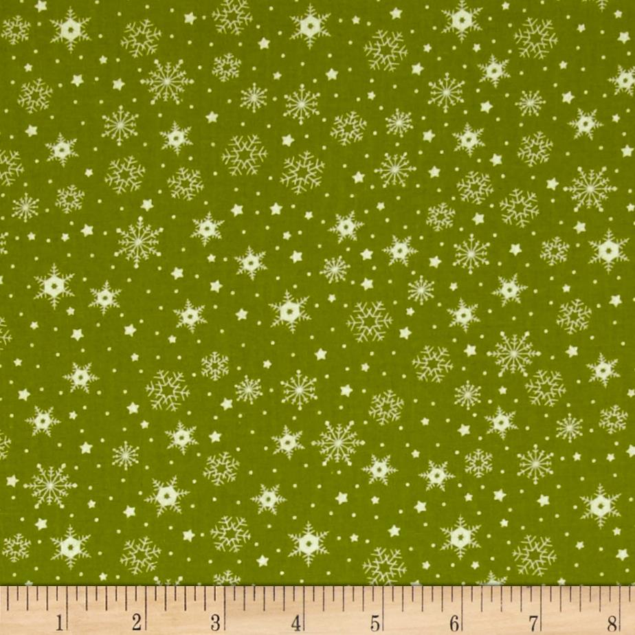 Moda The Cookie Exchange Snowflakes Grass