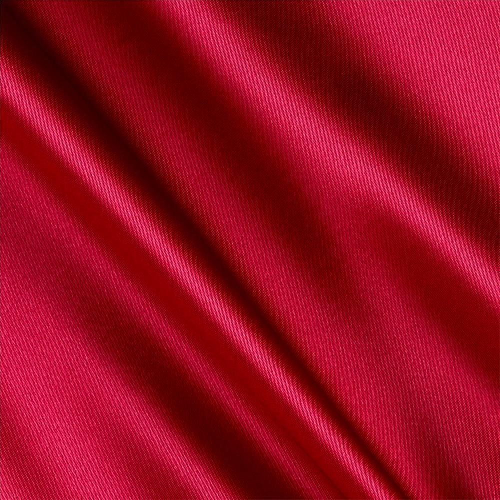 Silky Satin Charmeuse Solid Fuchsia Fabric By The Yard