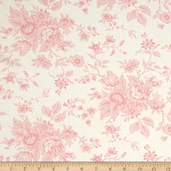 Moda Kindred Spirits Antique Floral Ivory - Pink