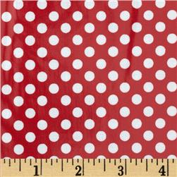 Riley Blake Laminated Cotton Small Dots Red/White