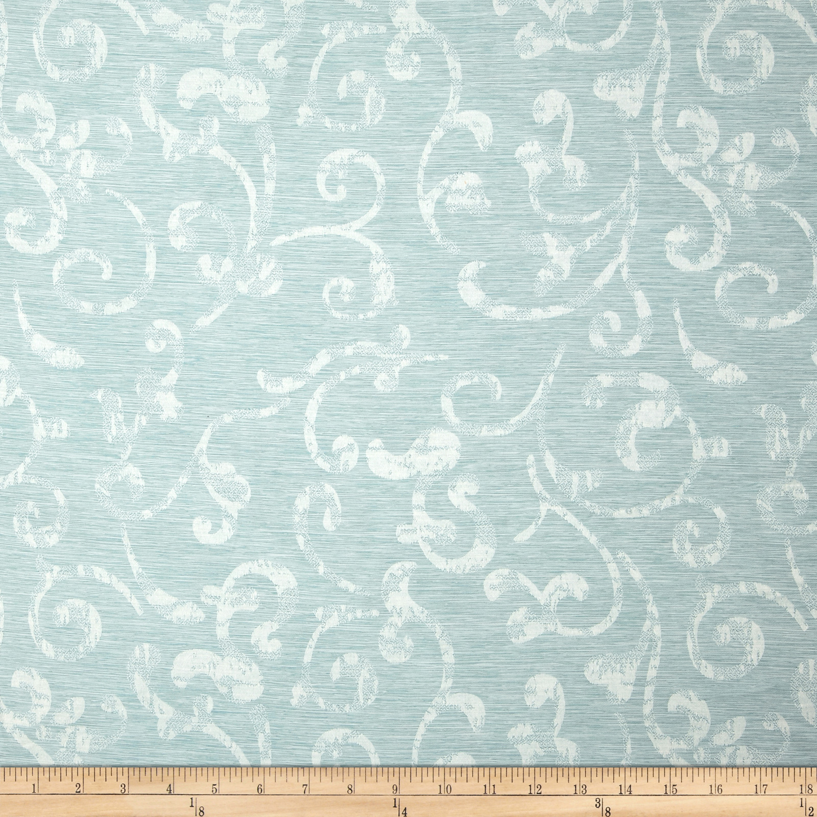 Eroica In Motion Damask Jacquard Mist Fabric by Eroica in USA