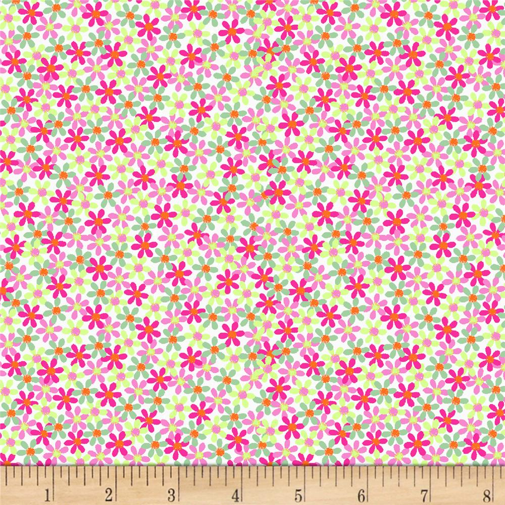 Blank Quilting Panda Park Allover Ditsy Pink Discount