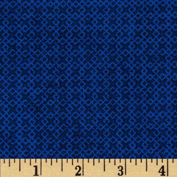 "108"" Wide Essentials Quilt Backing Criss Cross Blue"