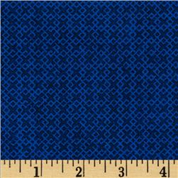 "108"" Essentials Criss Cross Quilt Backing Blue"