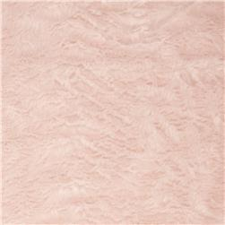 Matte Faux Fur Short Pile Pale Pink
