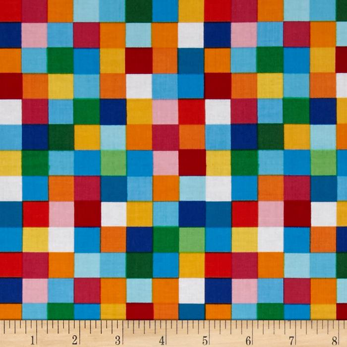 Kaufman Rainbow Remix Large Plaid Bright