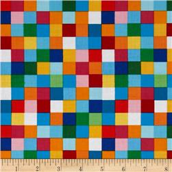 Robert Kaufman Rainbow Remix Large Plaid Bright