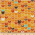 Riley Blake Fun & Games Chevron Orange