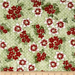 Three French Hens Floral Green