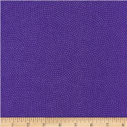 Timeless Treasures Dreaming in Pearle Dots Violet