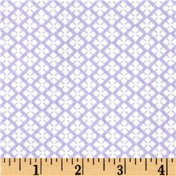 Dots and More Geo Diamonds Lavender/White