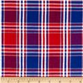Seersucker Large Plaid Pink/Royal/White