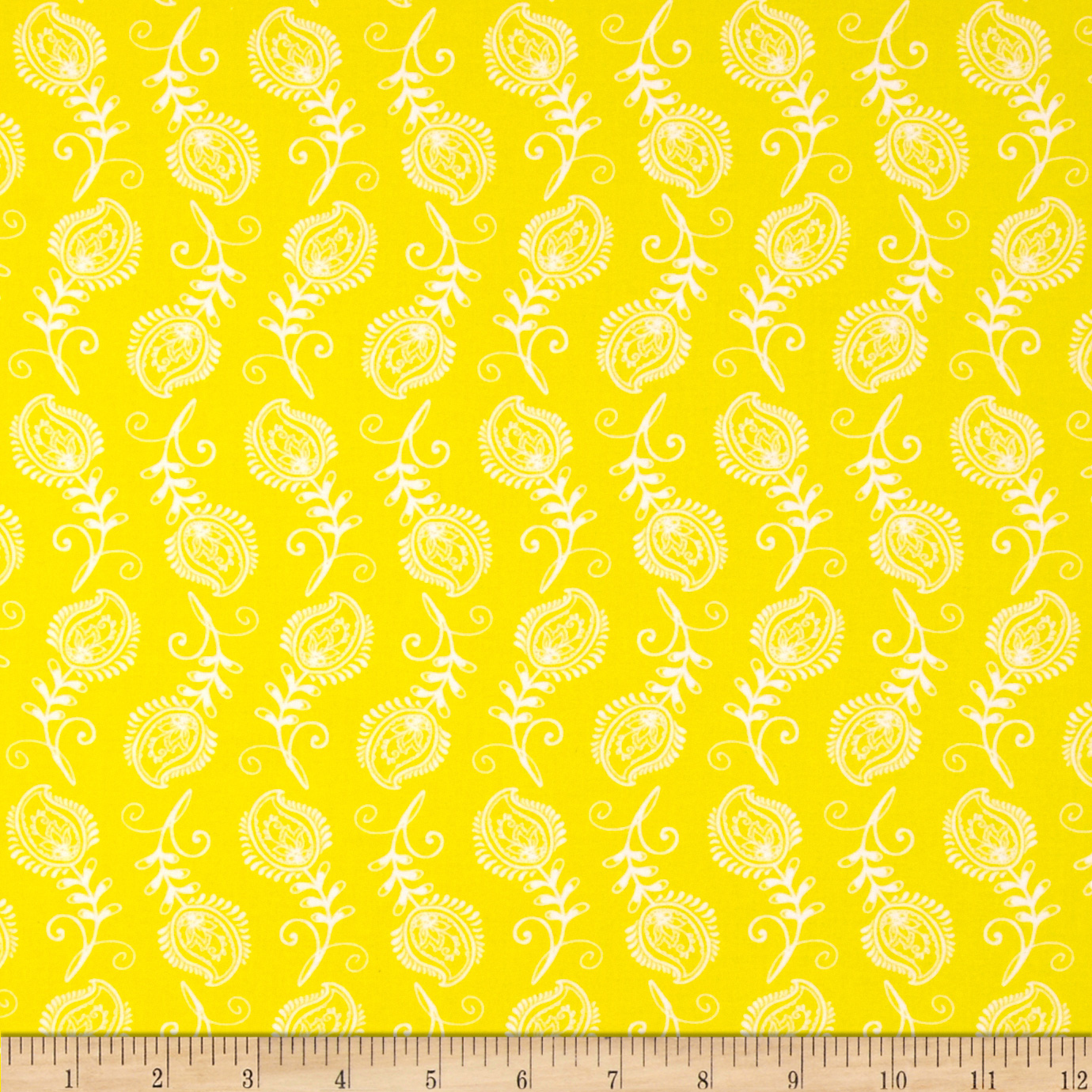 Contempo Feathers Yellow/White