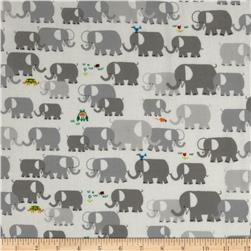 Happy Drawing Organic Elephants Grey