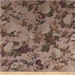 Maribel Voile Floral Tan/Wine