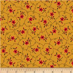 Landon Creek Tossed Flowers Red/Black Fabric