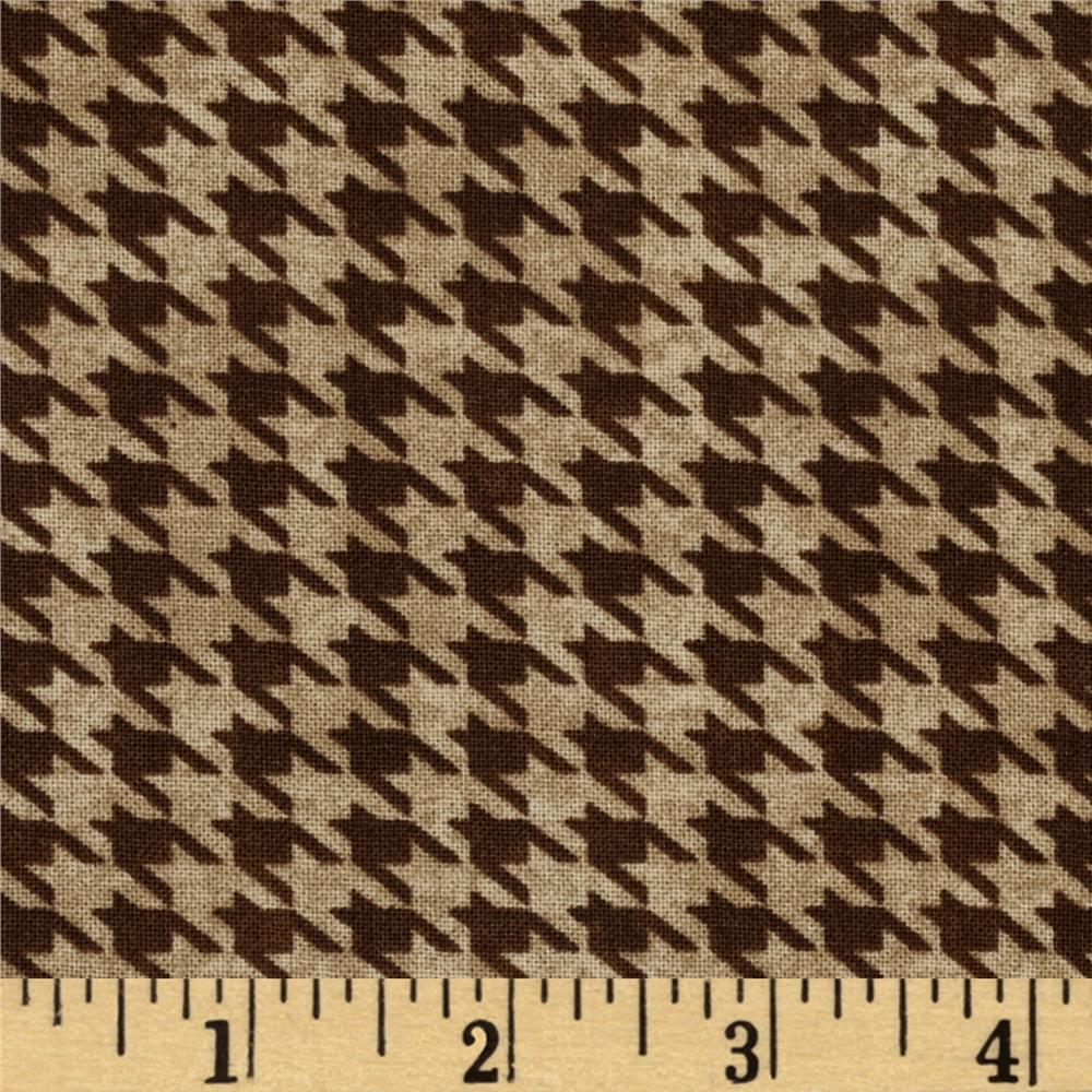 Alpine Woods Alpine Houndstooth Tan/Brown