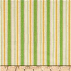 Riley Blake Cozy Christmas Stripe Green