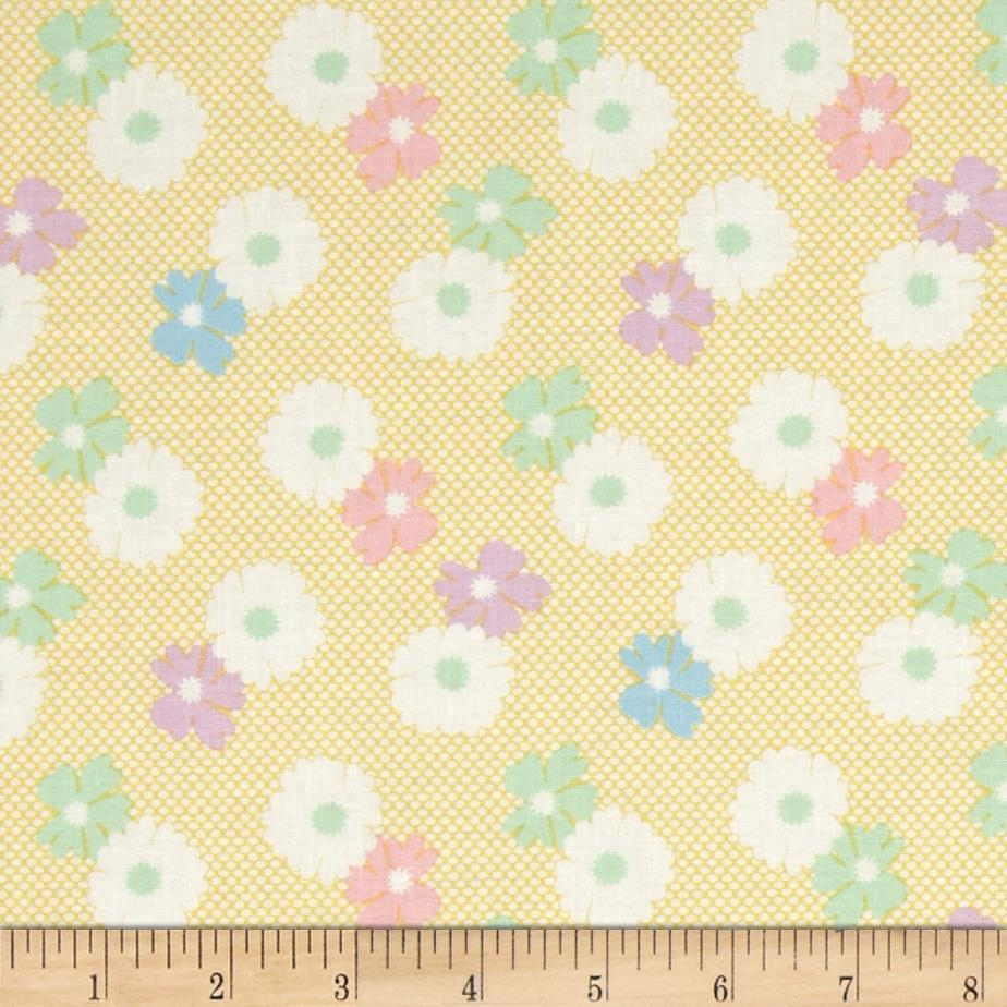 1930's Classics Floral Dot Yellow