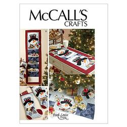 McCall's Stocking, Runner, Tree Skirt and Card Holder Pattern M6454 Size OSZ