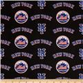 MLB Cotton Broadcloth New York Mets Orange/Blue