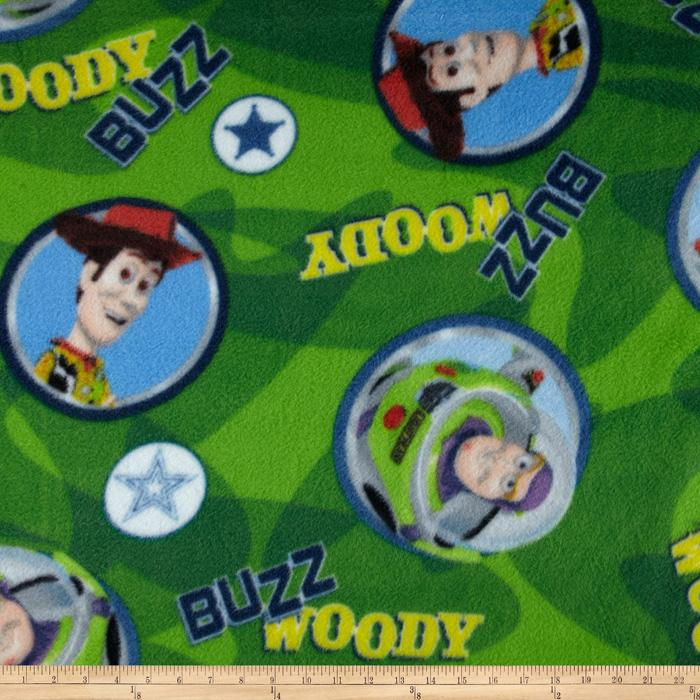 Disney Fleece Buzz and Woody Circles Green